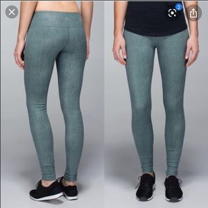 Lululemon Wunder Under Burlap Texture Deep Shore